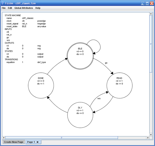 finite state machine design tool